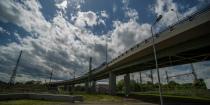 Railway-road interchange (grade separated) in Szombathely, Csaba st.