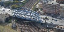 Renewal of Százlábú (Centipede) bridge, Budapest, Kerepesi st.