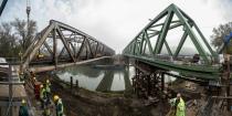 Renewal of Tisza railway bridge, Szolnok (Szolnok-Szajol railway line)