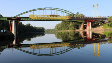 Building of II. Rákóczi Ferenc bridge over Tisza and demolition of the old bridge structure, Vásárosnamény, awarded by MAGÉSZ Hungarian Steel Structure Association