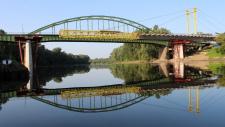 """A MAGÉSZ nívódíj I. helyezettje 2014. évben """"A vásárosnaményi II. Rákóczi Ferenc Tisza-híd építése és a régi híd bontása"""" című pályázat"""